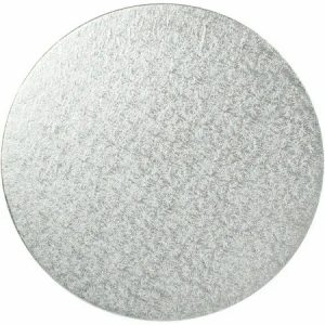 6 Inch Round Silver Masonite Cake Board