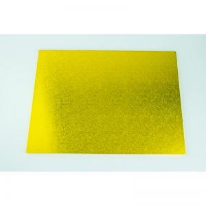 16 Inch x 24 Inch Oblong Gold Masonite Cake Board